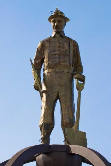 Iron Man statue on top of the Iron Man Memorial