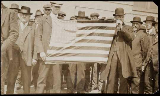 Charles A. Lindbergh Sr. at a Nonpartisan League meeting