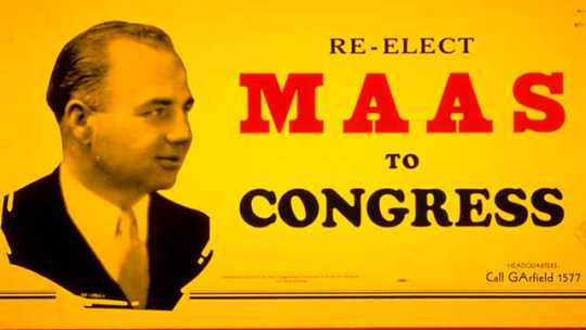 Color image of Maas for Congress campaign poster, 1934.