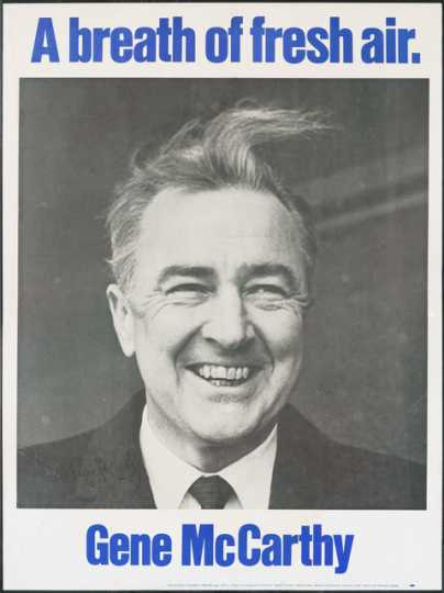 Color image of a Eugene McCarthy poster, 1968.