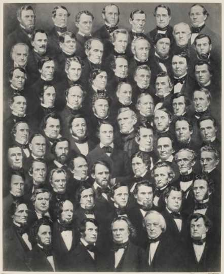 US Senate collage, 1860