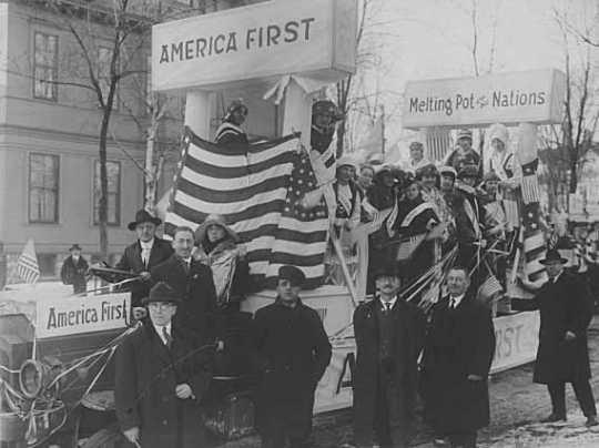 America First Association parade float