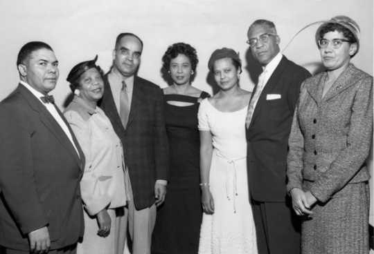 Nellie Stone Johnson (far right) with NAACP leaders, 1954.