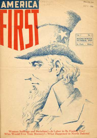 Cover of America First magazine