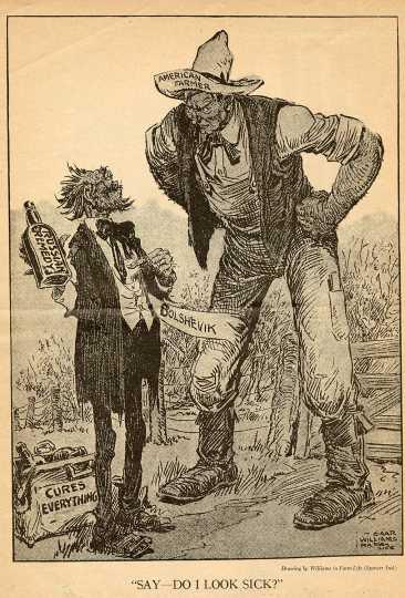 Anti-Bolshevik cartoon