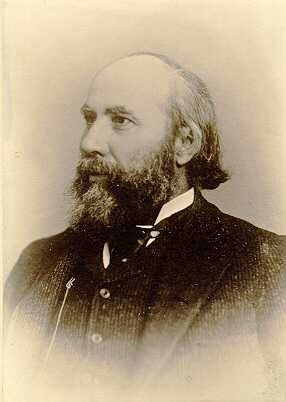Black and white photograph of James J. Hill, 1885. Photograph by Hayes Robbins.