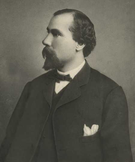 Black and white photograph of James J. Hill, 1864.