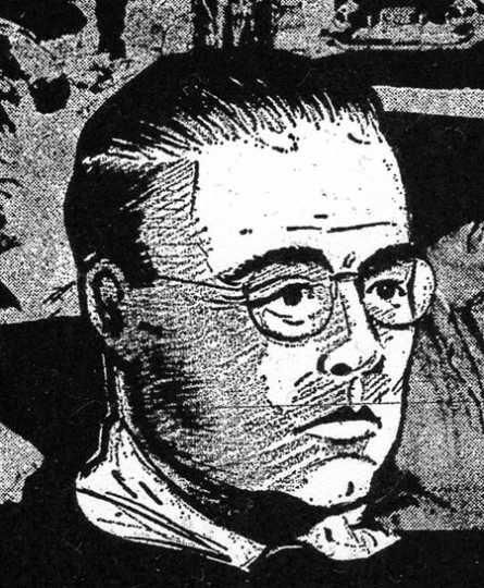 Artist's sketch of James P. Taylor, the killer of Kenneth Lindberg, based on witnesses' descriptions. Drawing by Minneapolis Tribune sketch artist Bud Mathes; Minneapolis Tribune, September 22, 1957.