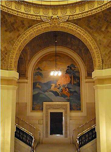 Stearns County Courthouse mural by Elsa Jemne