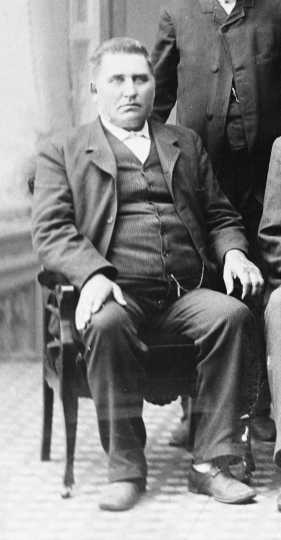 Black and white photograph of John Erickson, owner of Moorhead Brewery, ca. 1883. Photograph by O. E. Flaten.