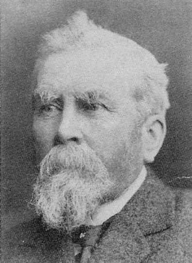 Black and white photograph of John Sweetman, founder of the Sweetman Catholic Colony, ca. 1885–1890.