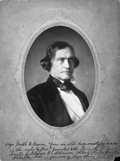 Joseph R. Brown, nominal leader of the burial party, c. 1853.