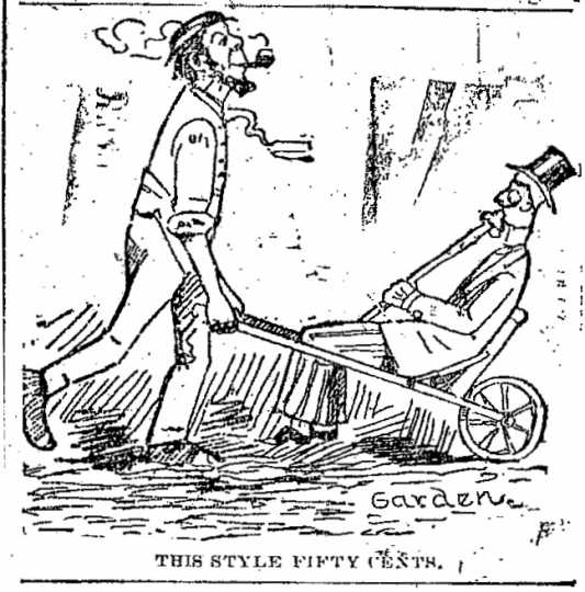 """Black and white scan of """"This style fifty cents."""" Minneapolis Journal, April 12, 1889."""