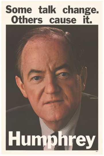 Humphrey Campaign Poster, 1968