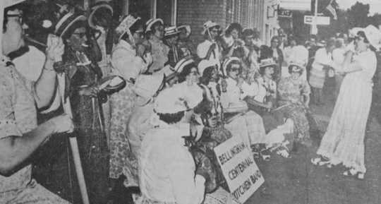 Photograph of the Kitchenette Band during Hospital Days. Printed in the Westbrook Sentinel Tribune, 1972.