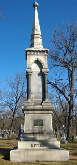 Color image of Norman Kittson monument, 2014.