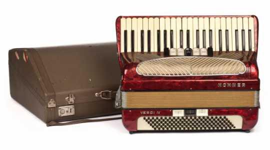 Photograph of Coya Knutson's accordion
