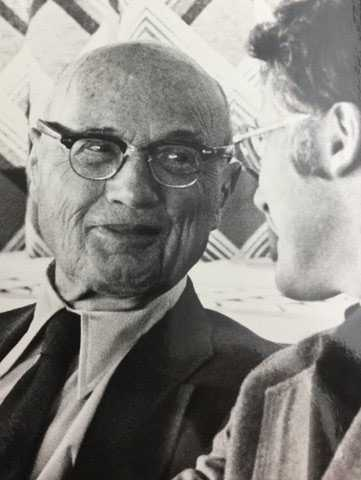 Izaak Kolthoff with University of Minnesota President C. Peter Magrath at the dedication of Kolthoff Hall