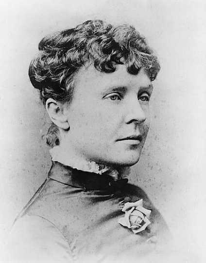 Black and white photograph of Rose Cleveland, ca. 1885.