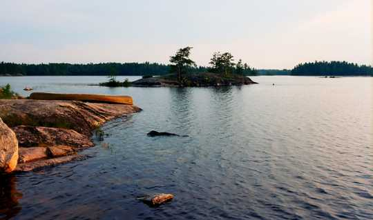 Color image of Iron Lake, Boundary Waters Canoe Area Wilderness, 2012.