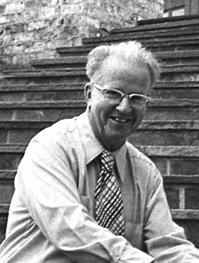 black and white photograph of Dr. Leon C. Snyder