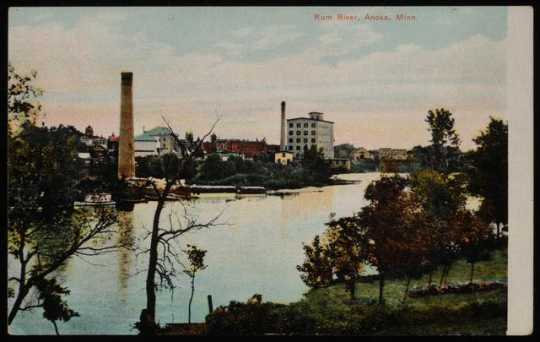 Pillsbury Lincoln Mill and the Rum River, Anoka, Minnesota