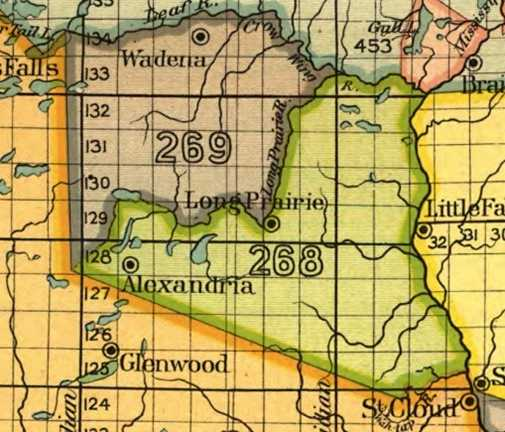 Land Ceded by the 1847 Treaty of Fond Du Lac(green)