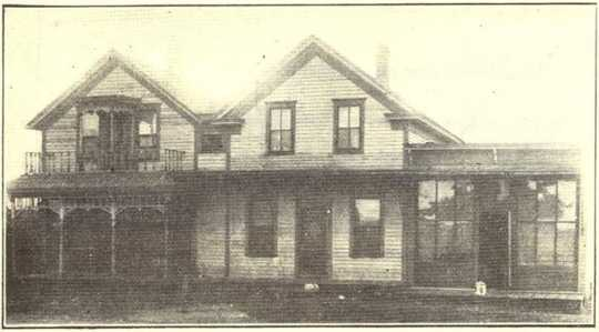 Black and white photograph of Louis Strunk Meat Market, originally printed in The Great Northwest Magazine, December 1909.