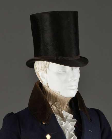 Top hat made of beaver fur