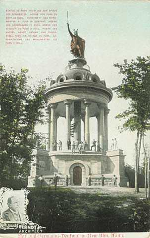 Colorized Hermann Monument postcard, ca. 1908.