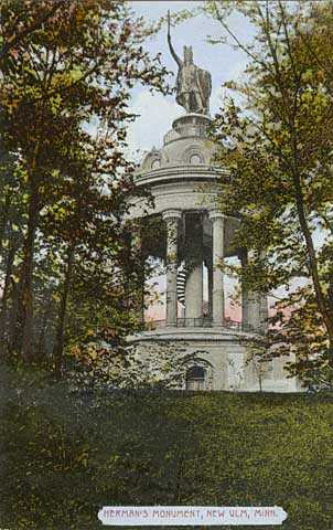 Hermann Monument colorized postcard, ca. 1910.
