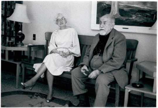 Clement Haupers and Muriel Oliver at Ah Gwah Ching nursing home, September 1982.