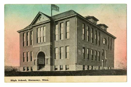 Photograph of Harmony High School, 1910