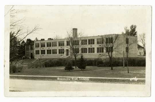 Photograph of Harmony High School, 1936