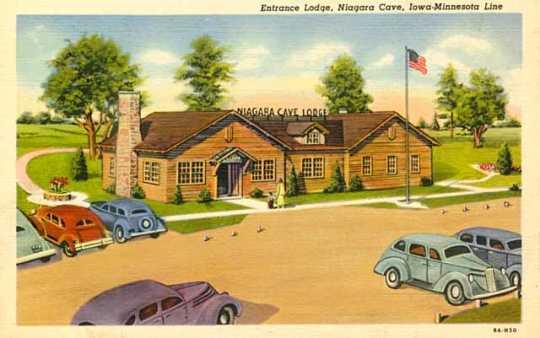 Photograph of entrance lodge at Niagara Cave