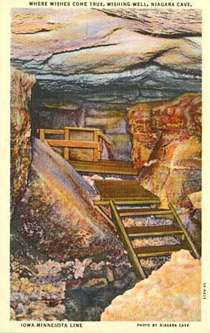 "Photo of old ""wishing well"" at Niagara Cave"