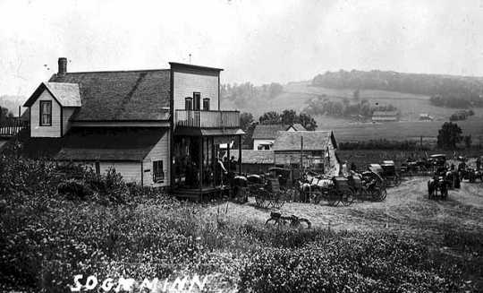 Black and white photograph of Sogn, Goodhue County, c.1910.