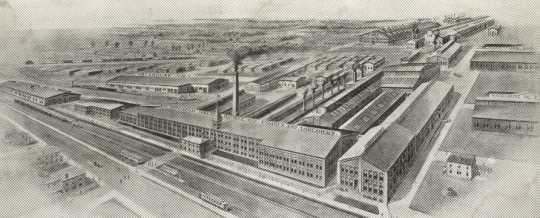 Black and white photograph of Minneapolis Threshing Machine Company Plant, Hopkins, 1908.