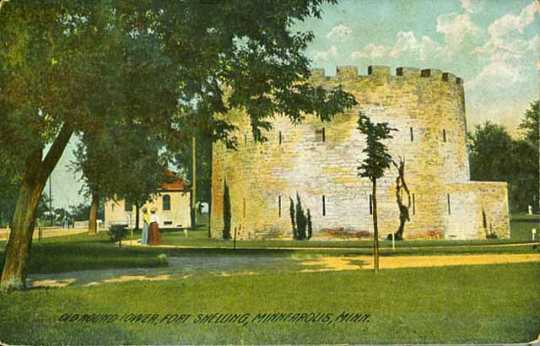 Color scan of a Round Tower postcard, c.1910.