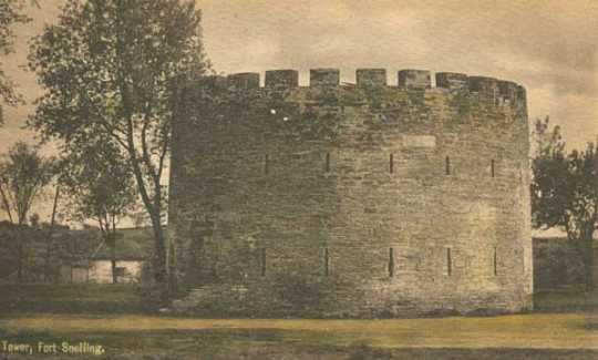Color scan of a Round Tower postcard, c.1905.