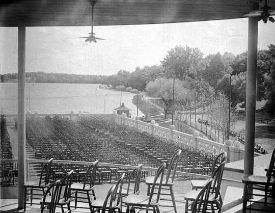 View of Lake Harriet from the pavilion