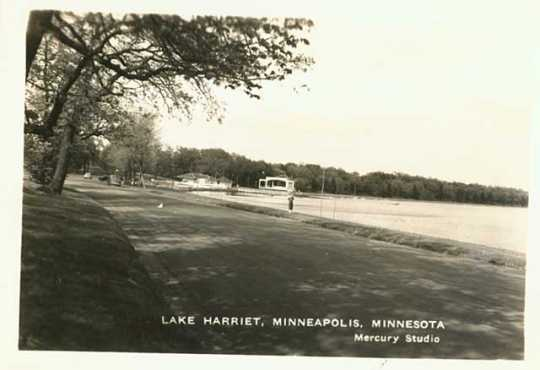 Lake Harriet and pavilion