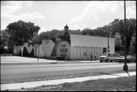 The New Way (1913 Plymouth Avenue, Minneapolis), a popular community center for the black community, ca. 1975. At the time this photograph was taken, it had just opened.