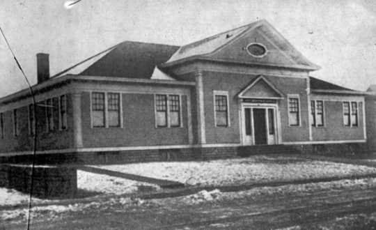 Black and white photograph of Drummond Hall, c.1890.