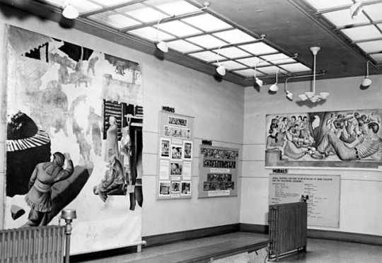 Black and white photograph of a Federal Art Project, Walker Art Center, Minneapolis, 1940.