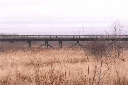 Minnesota and International Railway trestle bridge, facing southeast