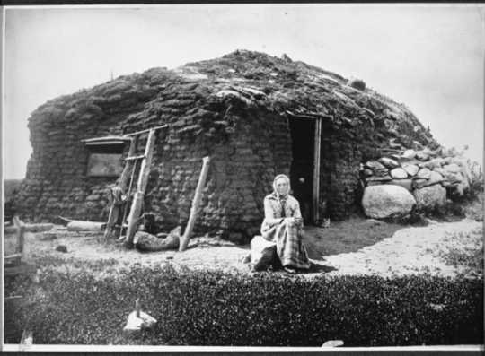 Photograph of sod house