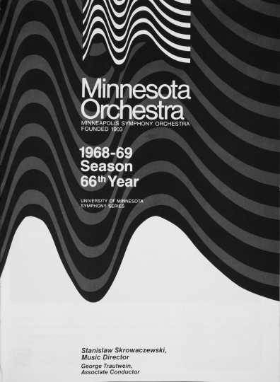 Scan of a Minnesota Orchestra program cover 1968–1969 season showing the organization's new name.
