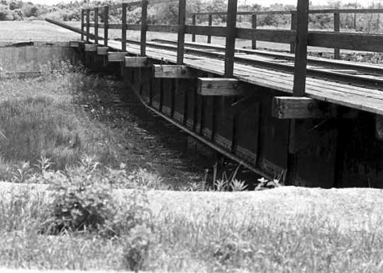 Black and white photograph of the locomotive turntable, Currie, ca. 1973.
