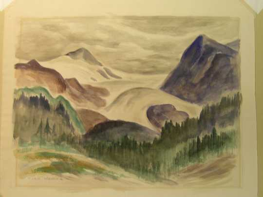 Color image of Untitled (Glacier Park), watercolor on paper, undated [1926?].